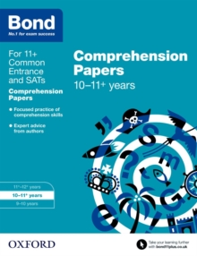 Bond 11+: English: Comprehension Papers : 10-11 Years, Paperback