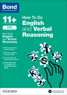 Bond 11+: CEM How to Do: English and Verbal Reasoning, Paperback Book