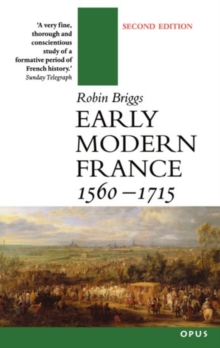 Early Modern France, 1560-1715, Paperback Book