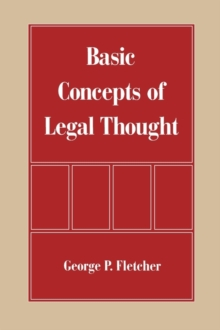 The Basic Concepts of Legal Thought, Paperback