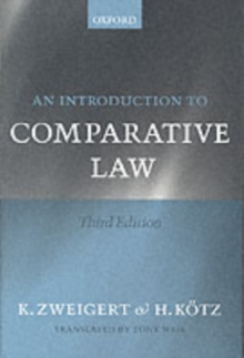 An Introduction to Comparative Law, Paperback Book