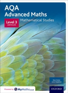 AQA Mathematical Studies Student Book : Level 3 Certificate Level 3 certificate, Paperback