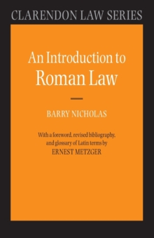 An Introduction to Roman Law, Paperback