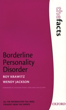 Borderline Personality Disorder : Roy Krawitz, Wendy Jackson, Paperback Book