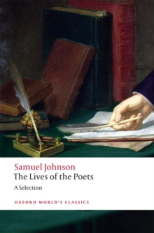 The Lives of the Poets : A Selection, Paperback