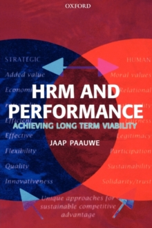 HRM and Performance : Achieving Long Term Viability, Paperback Book