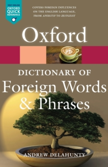 Oxford Dictionary of Foreign Words and Phrases, Paperback