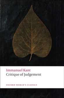 Critique of Judgement, Paperback