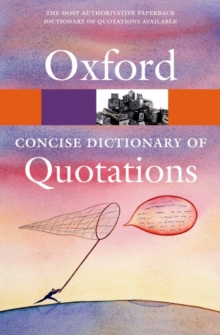Concise Oxford Dictionary of Quotations, Paperback