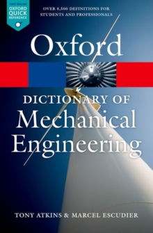 A Dictionary of Mechanical Engineering, Paperback