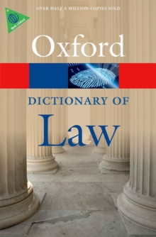 A Dictionary of Law, Paperback Book