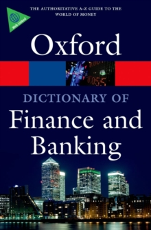 A Dictionary of Finance and Banking, Paperback