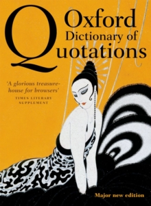 Oxford Dictionary of Quotations, Hardback