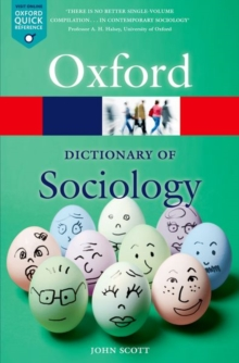 A Dictionary of Sociology, Paperback Book