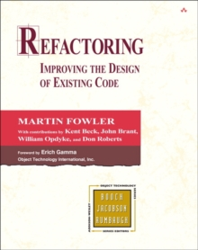 Refactoring : Improving the Design of Existing Code, Hardback Book