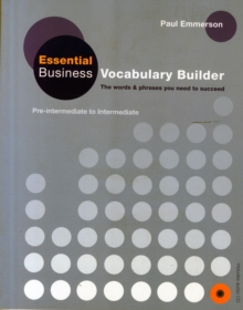 Business Vocabulary Builder: Essential Business Vocabulary Builder Student's Book with Audio CD, Mixed media product Book