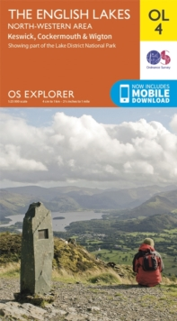 The English Lakes - North-Western Area, Keswick, Cockermouth & Wigton, Sheet map, folded