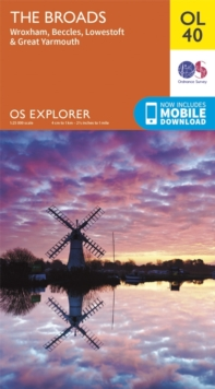 The Broads, Wroxham, Beccles, Lowestoft & Great Yarmouth, Sheet map, folded
