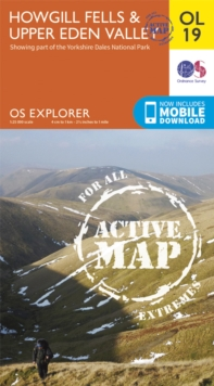 Howgill Fells & Upper Eden Valley, Sheet map, folded