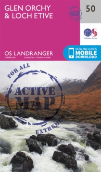 Glen Orchy & Loch Etive, Sheet map, folded