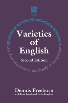 Varieties of English : An Introduction to the Study of Languages, Paperback