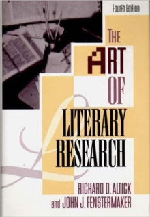 The Art of Literary Research, Hardback