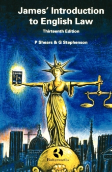 James' Introduction to English Law, Paperback