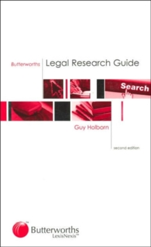 Butterworths Legal Research Guide, Paperback