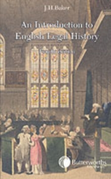 An Introduction to English Legal History, Paperback Book