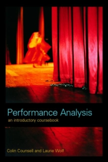 Performance Analysis : An Introductory Coursebook, Paperback