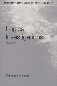 Logical Investigations : v.1, Paperback