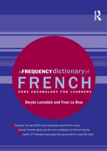 A Frequency Dictionary of French : Core Vocabulary for Learners, Paperback