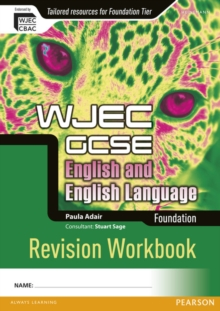 WJEC GCSE English and English Language Foundation Revision Workbook, Paperback Book