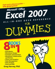 Excel 2007 All-in-One Desk Reference For Dummies, Paperback