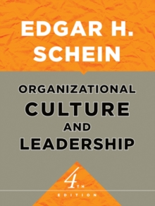 Organizational Culture and Leadership, Hardback Book