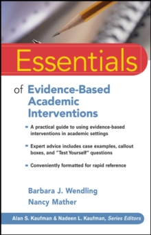 Essentials of Evidence-based Academic Interventions, Paperback