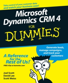 Microsoft Dynamics CRM 4 For Dummies, Paperback