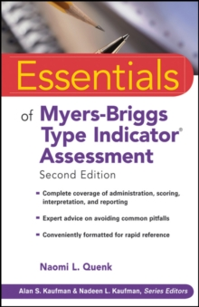 Essentials of Myers-Briggs Type Indicator Assessment, Paperback