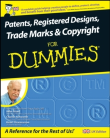 Patents, Registered Designs, Trade Marks and Copyright For Dummies, Paperback Book