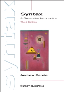 Syntax : A Generative Introduction, Paperback