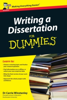 Writing a Dissertation For Dummies, Paperback