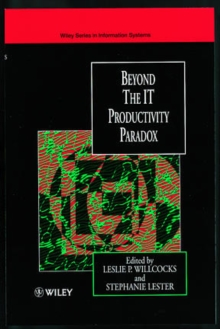 Beyond the IT Productivity Paradox : Assessment Issue, Hardback