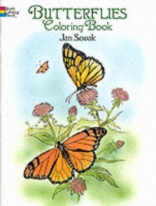 Butterflies Coloring Book, Paperback