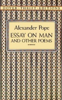 Essay on Man and Other Poems, Paperback