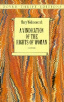A Vindication of the Rights of Woman, Paperback