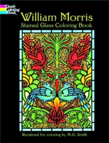 William Morris Stained Glass Coloring Book, Paperback