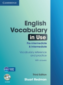 English Vocabulary in Use Pre-intermediate and Intermediate with Answers and CD-ROM, Mixed media product