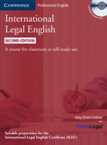 International Legal English Student's Book with Audio CDs (3) : A Course for Classroom or Self-study Use, Mixed media product Book