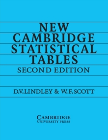 New Cambridge Statistical Tables, Paperback