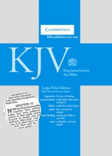 KJV Large Print Text Bible, Black French Morocco Leather KJ653:T : Authorized King James Version, Leather / fine binding